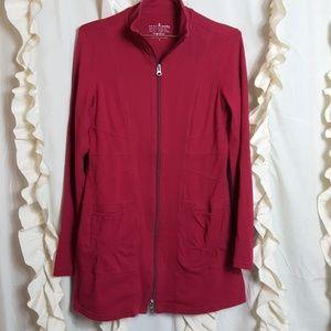 Neon Buddha maroon longer length workout jacket
